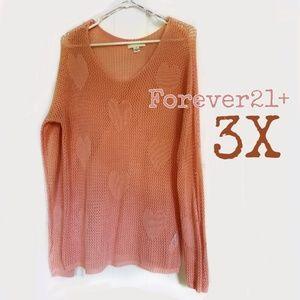 Forever 21 + heart sweater